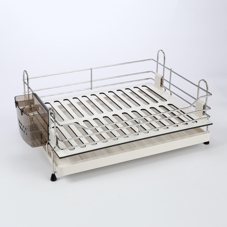 韩国原产WELLMATE不锈钢沥水架碗碟架置物架 白色