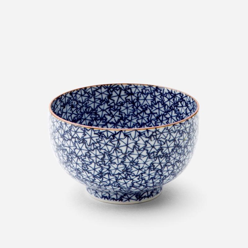 日本原產T.NISHIKAWA Kumo京燒清水燒彩繪陶瓷茶碗 楓葉