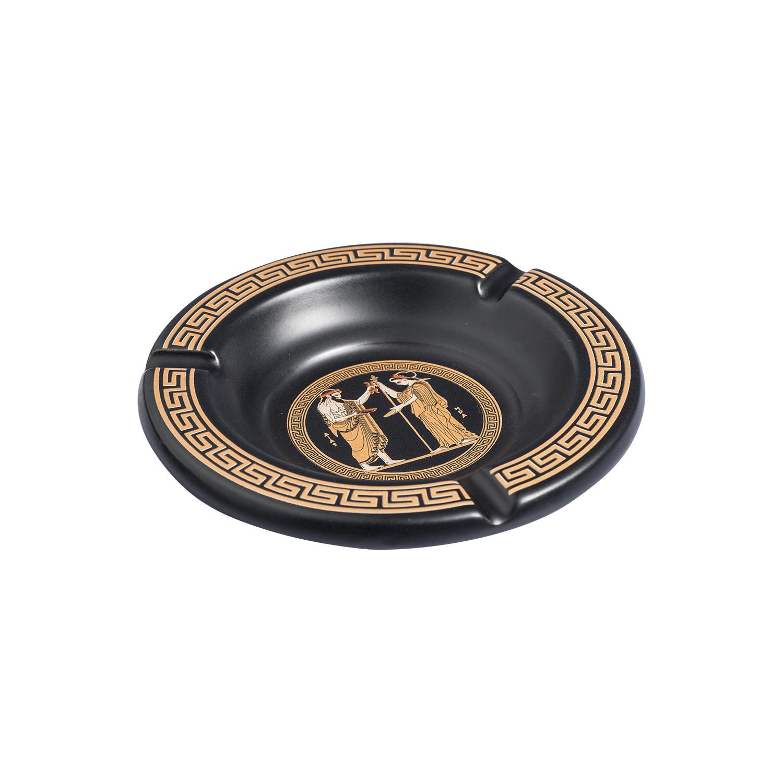 希腊原产XIPOLIAS 陶瓷装饰和日用烟灰缸 黑色
