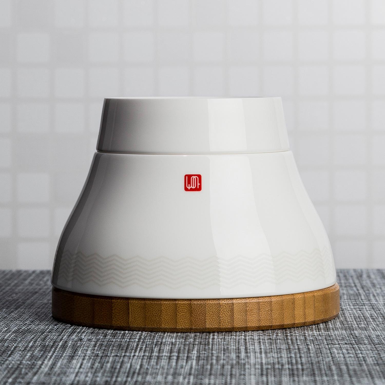 韩国原产LIVING HANKOOK时尚简约节省空间骨瓷餐具六件套