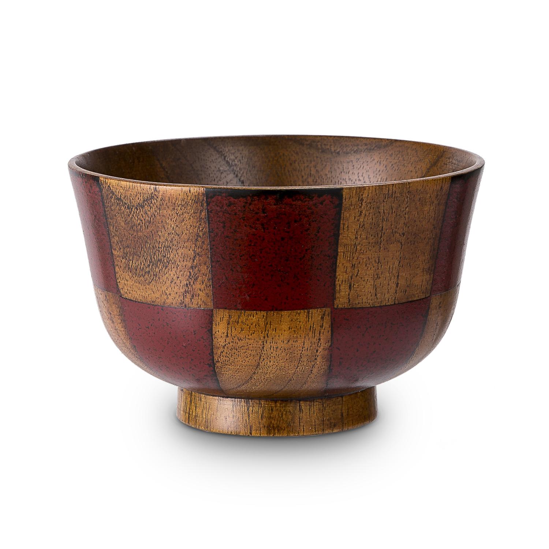 日本原产wakacho若兆 传统漆器栗木汤碗茶碗多用碗水波纹 红色