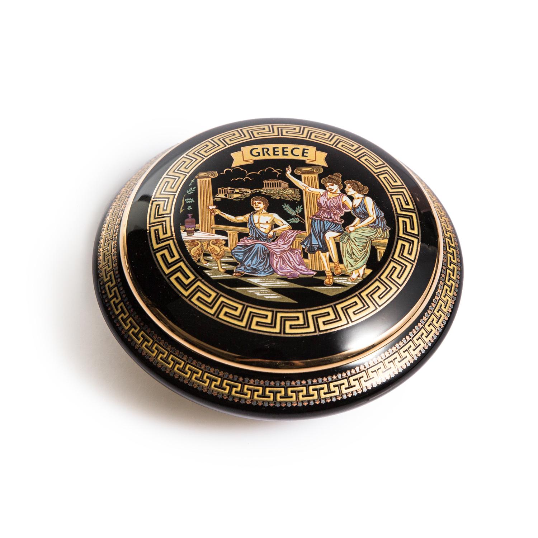 希腊原产Fakiolas月光珠宝盒黑色 玫瑰金