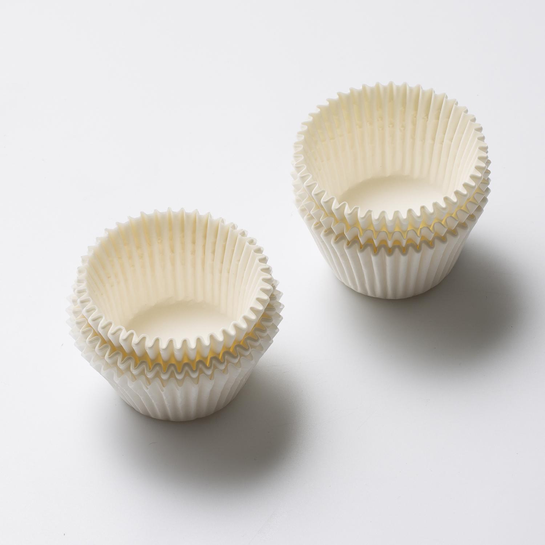 韩国原产NORDICPAPER烘焙蛋糕马芬杯纸模纸杯 100个/盒 白色