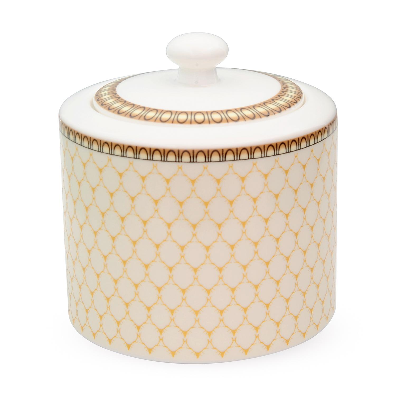 英國原產HALCYON DAYS 皇家認證骨瓷糖罐宮廷 乳白色