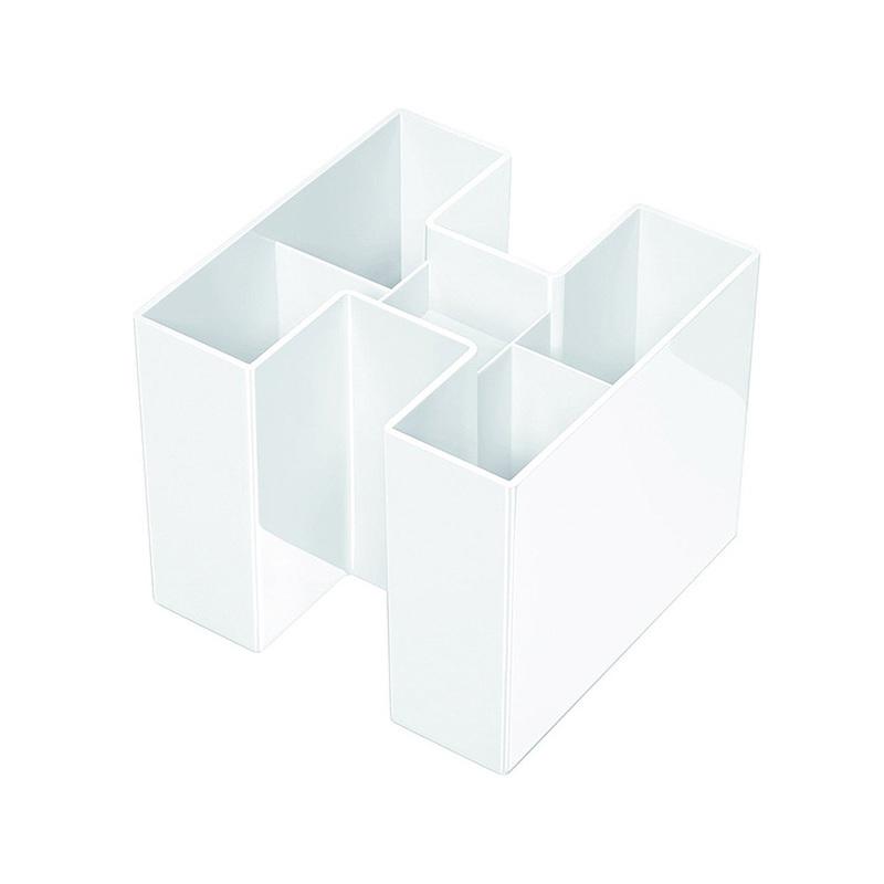 德国原产HAN环保创意多功能笔筒收纳盒整理盒 白色