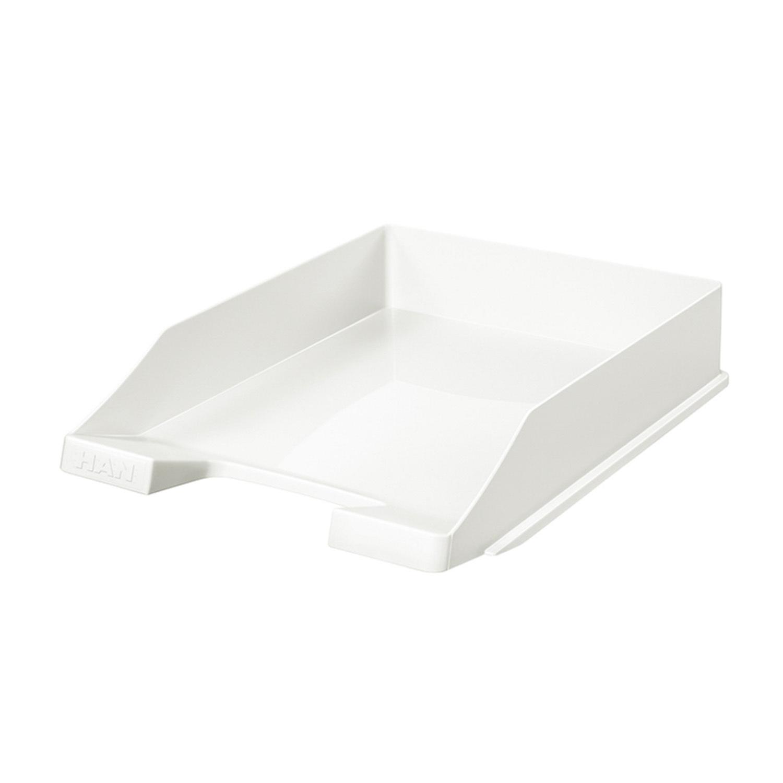德国原产HAN环保可叠加便抽取式办公用品文件收纳盒资料盒/盘 白色