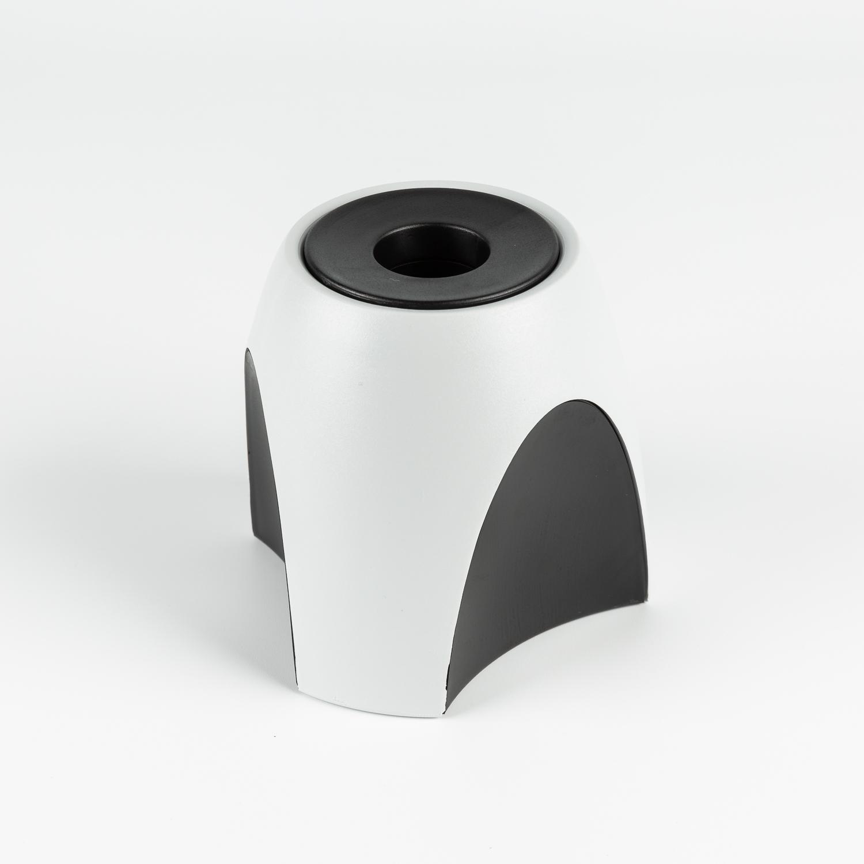 德国HAN重力设计防滑简约笔筒-含可拆卸磁环 黑灰