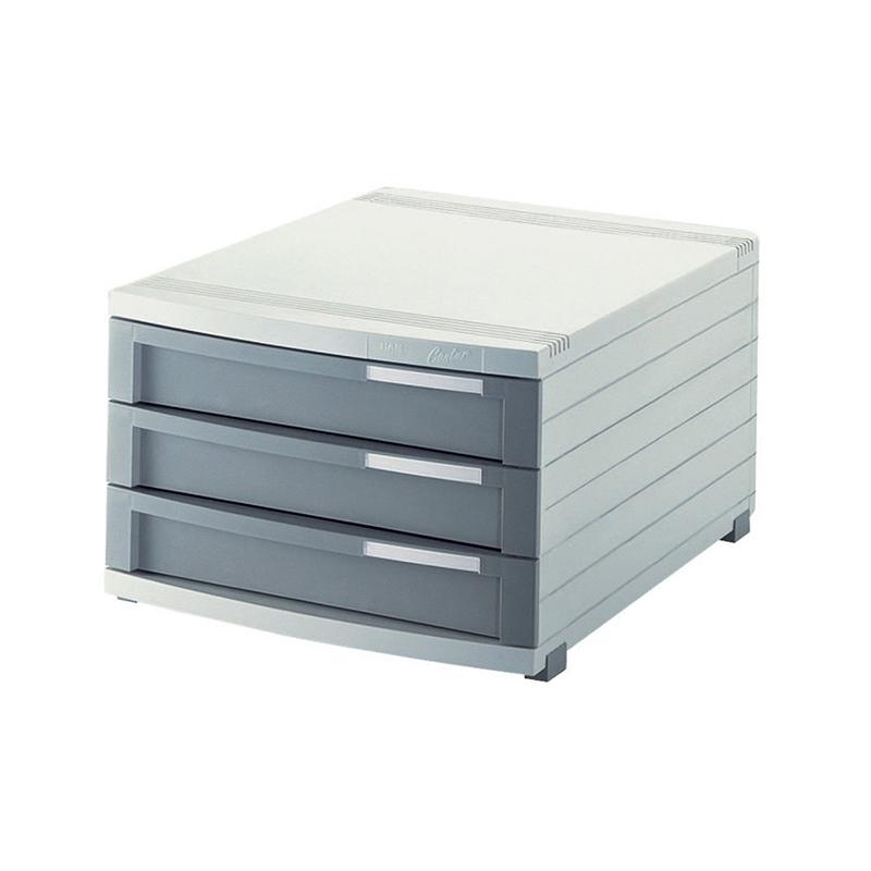 德国原产HAN经典三层抽屉式文件柜办公用品资料架文件盒 灰色