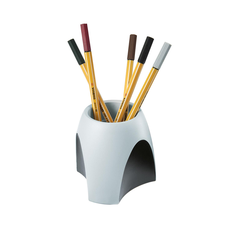 德国原产HAN重力设计防滑简约笔筒收纳盒整理盒 黑灰